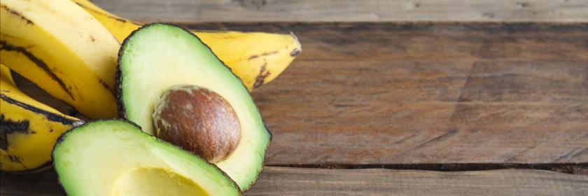 Purre z bananem i awokado